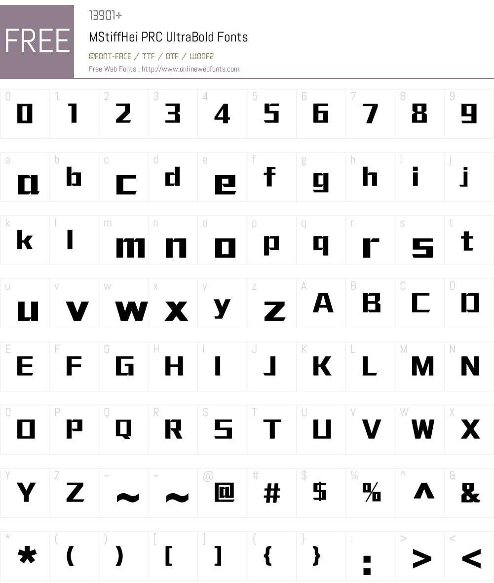 MStiffHei PRC Font Screenshots