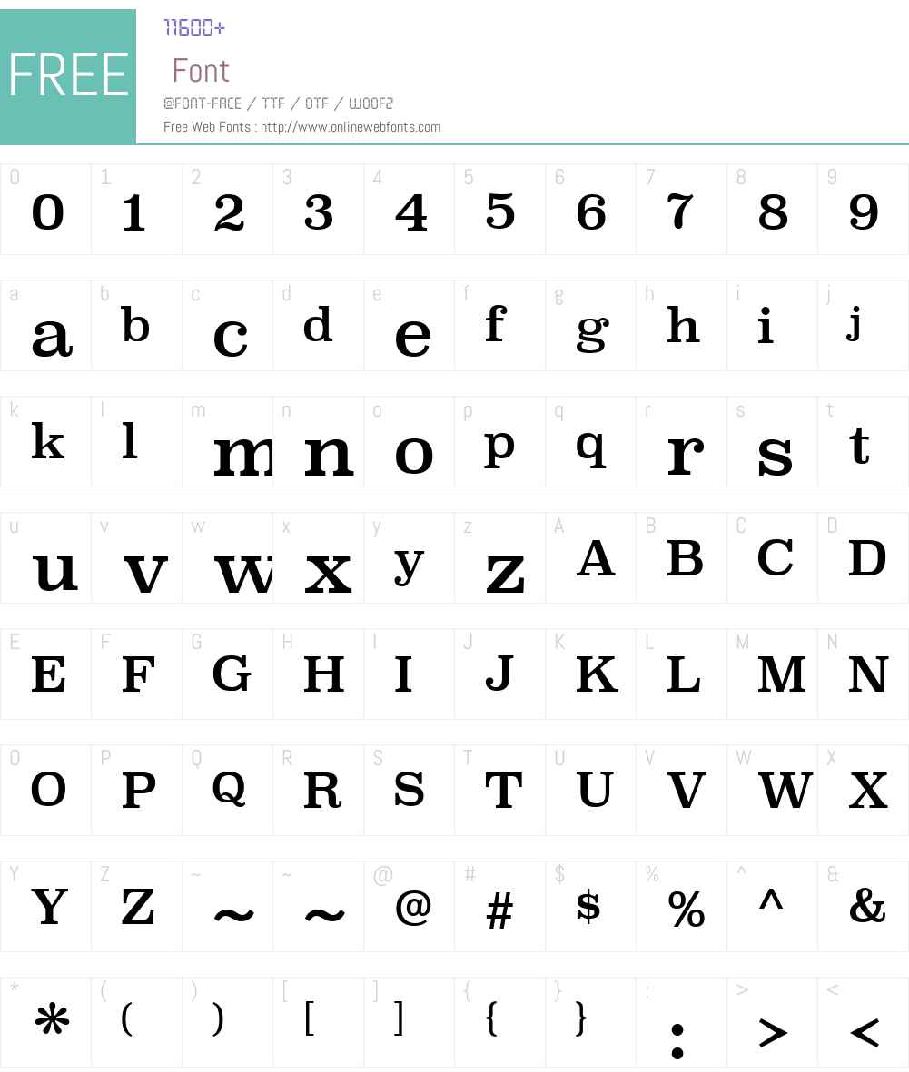 Superclarendon Font Screenshots