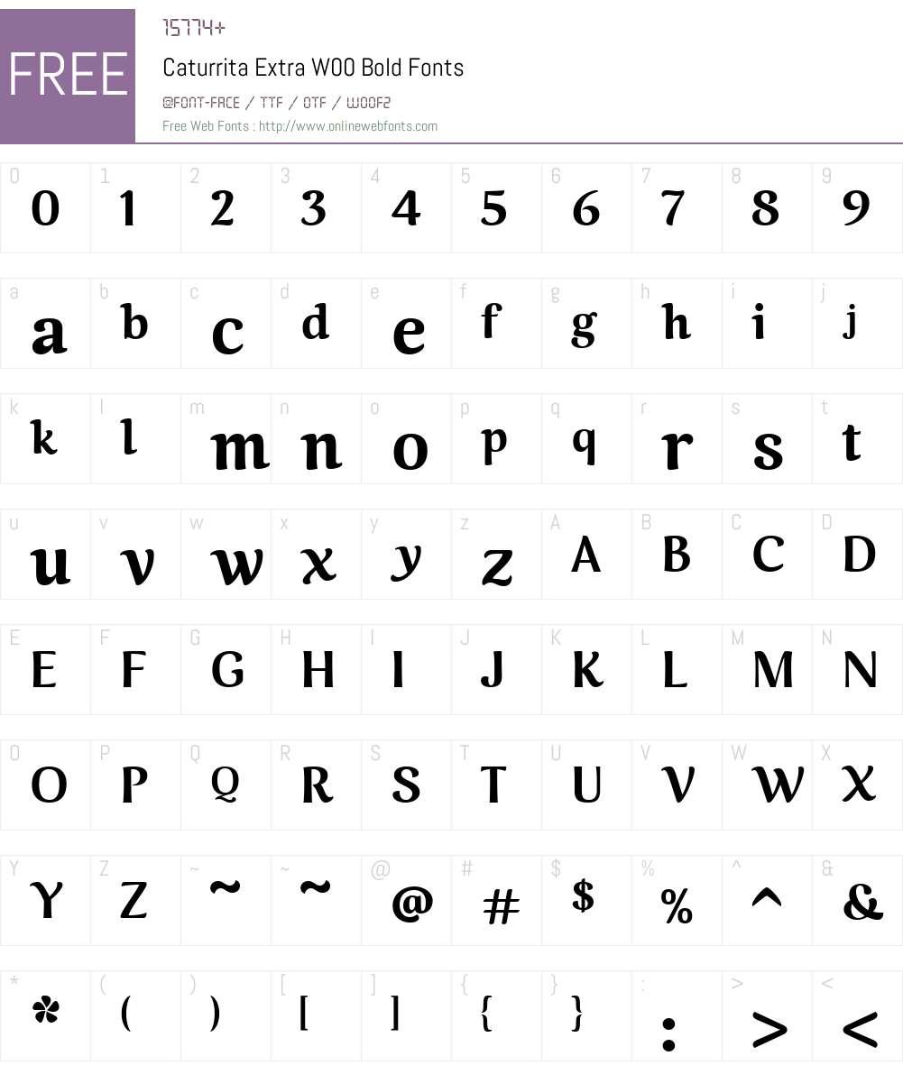 CaturritaExtraW00-Bold Font Screenshots