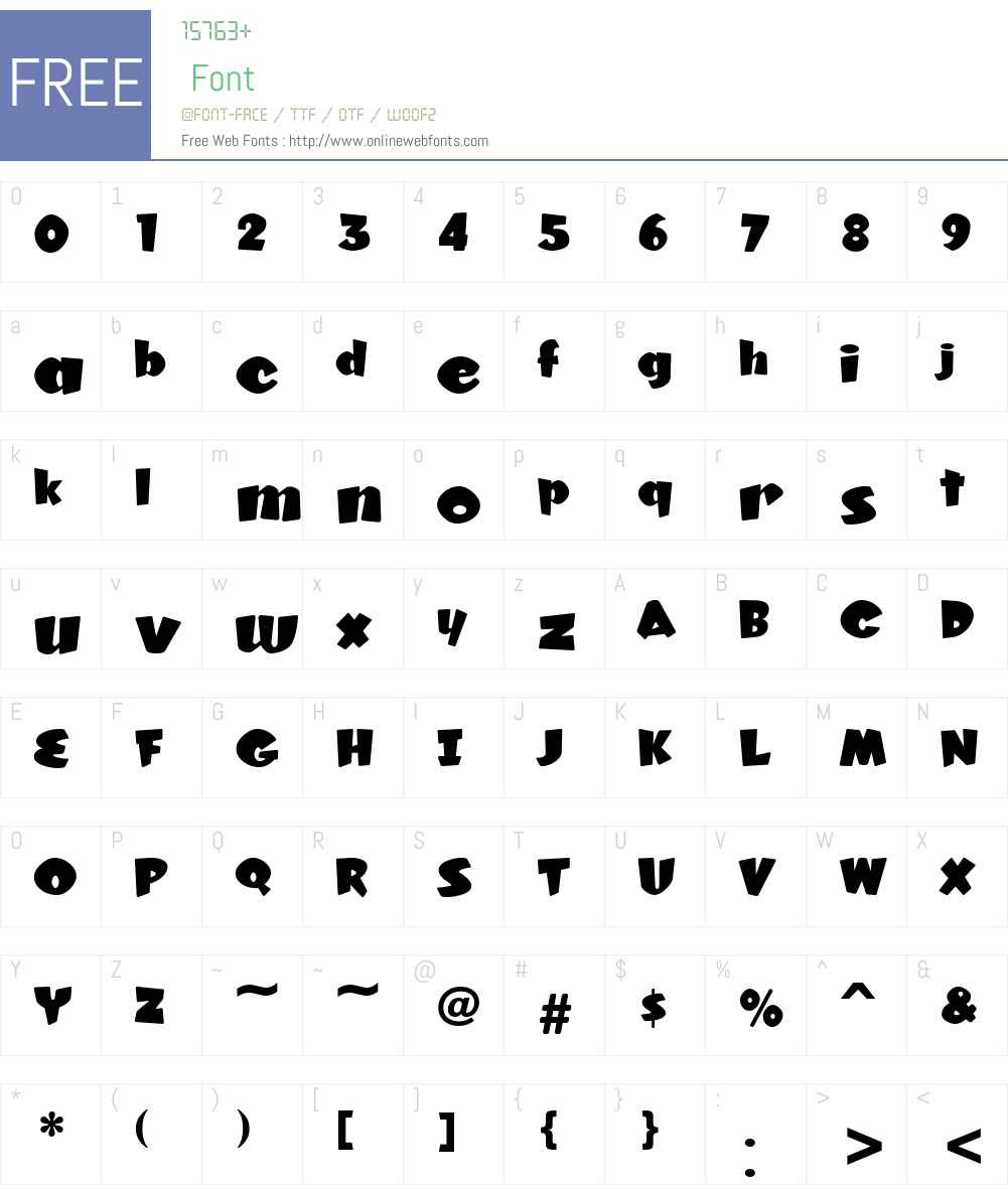 KonTikiKonaJF Font Screenshots