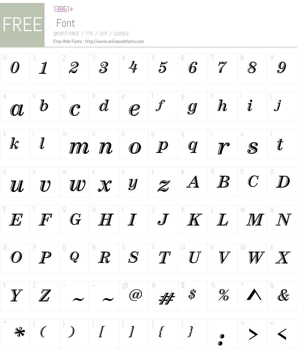 Century Handtooled ITC Std Font Screenshots