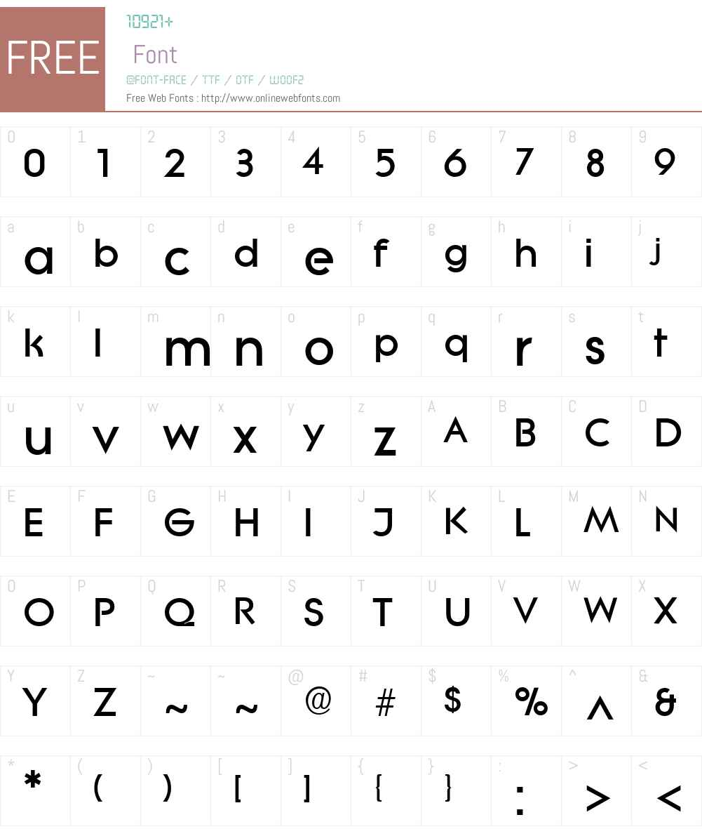 Litera Font Screenshots