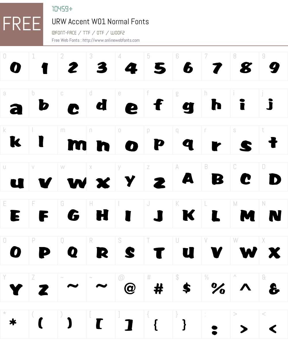 URWAccentW01-Normal Font Screenshots