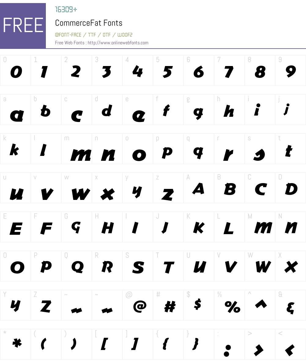 Commerce Font Screenshots
