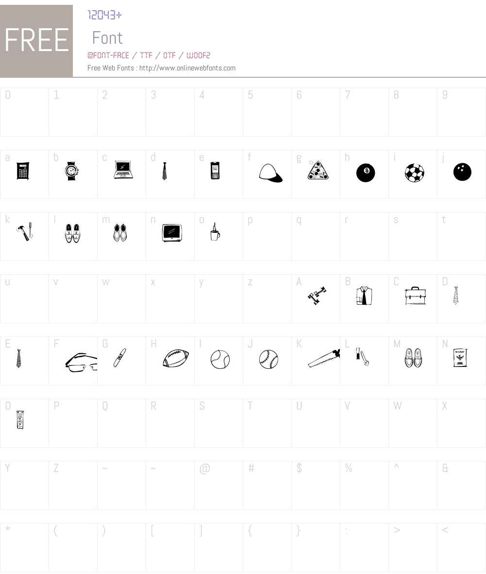 GuyDoodlesW95-Regular Font Screenshots