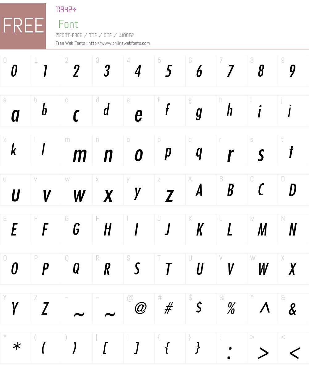 Futura LT Font Screenshots
