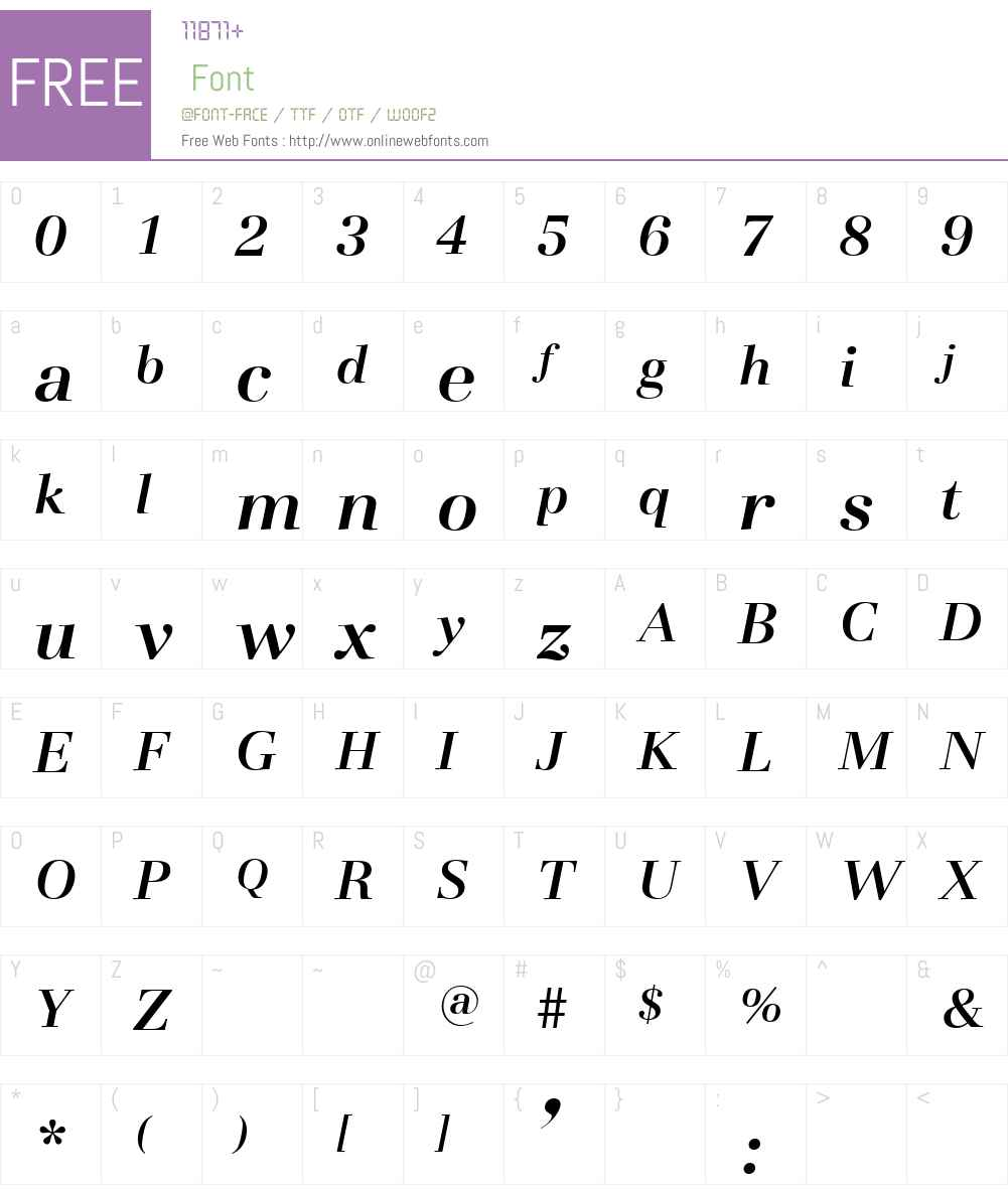 BasiliaW00-TMediumItalic Font Screenshots
