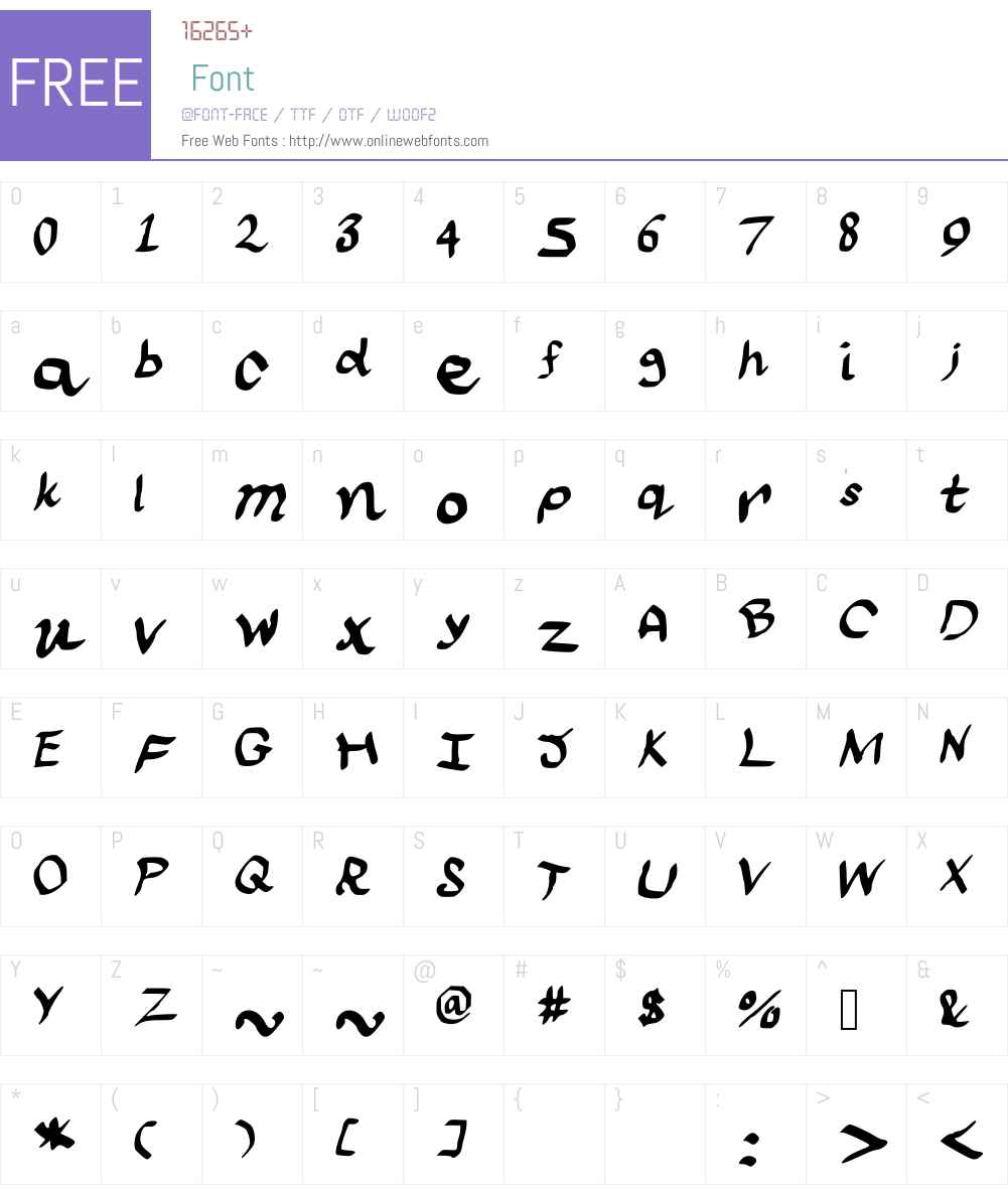 scraapribbon Font Screenshots