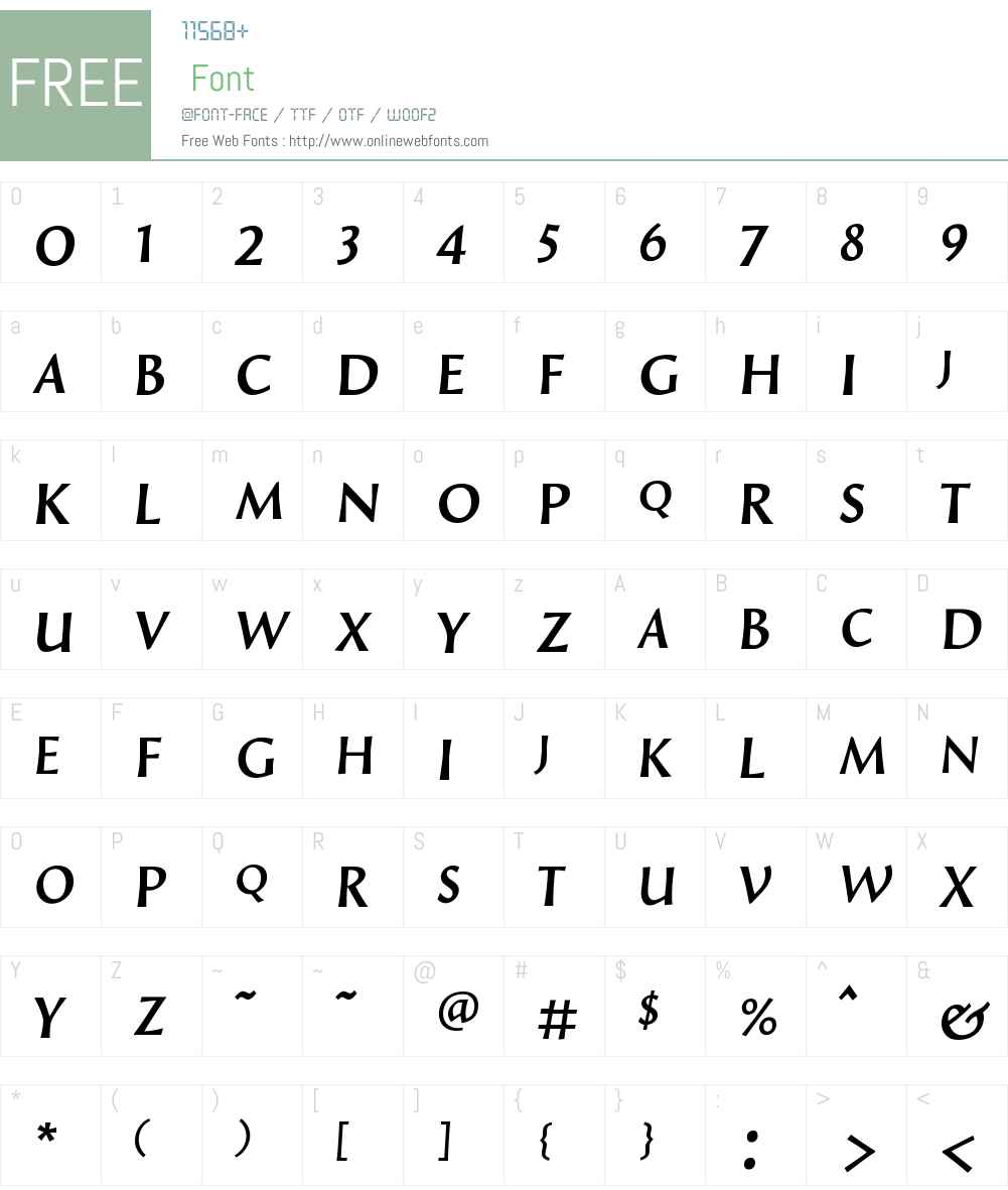 LuccaSCW00-Regular Font Screenshots