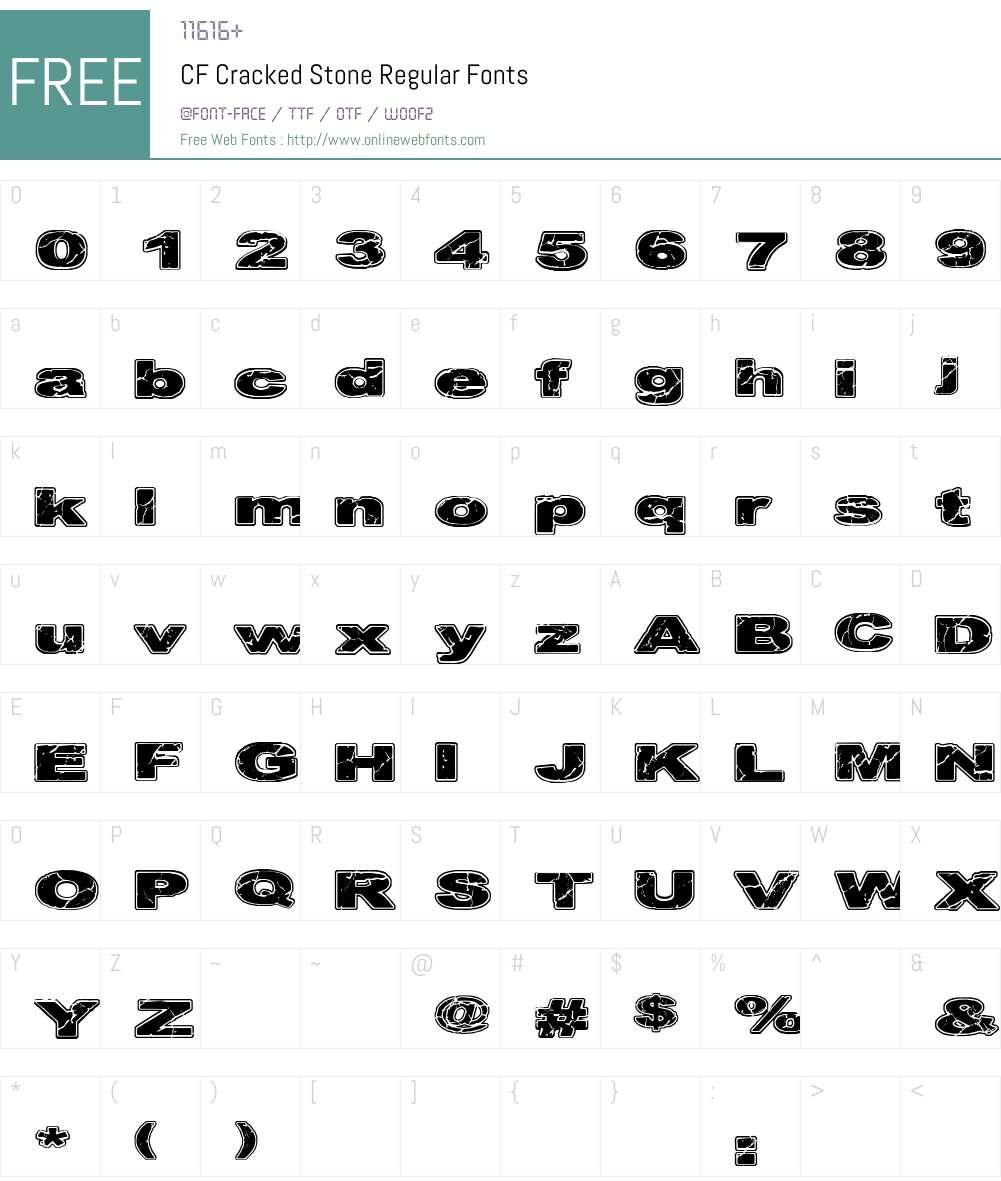 CF Cracked Stone Font Screenshots