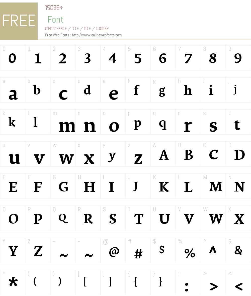 GinkgoLTW01-Bold Font Screenshots