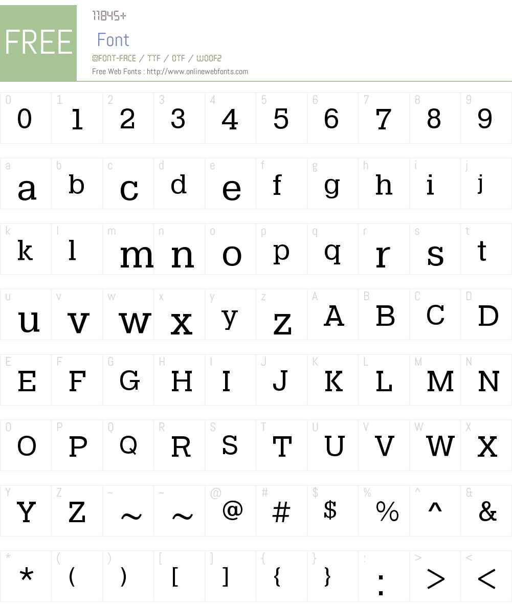 Pragmatica Slab Book Font Screenshots