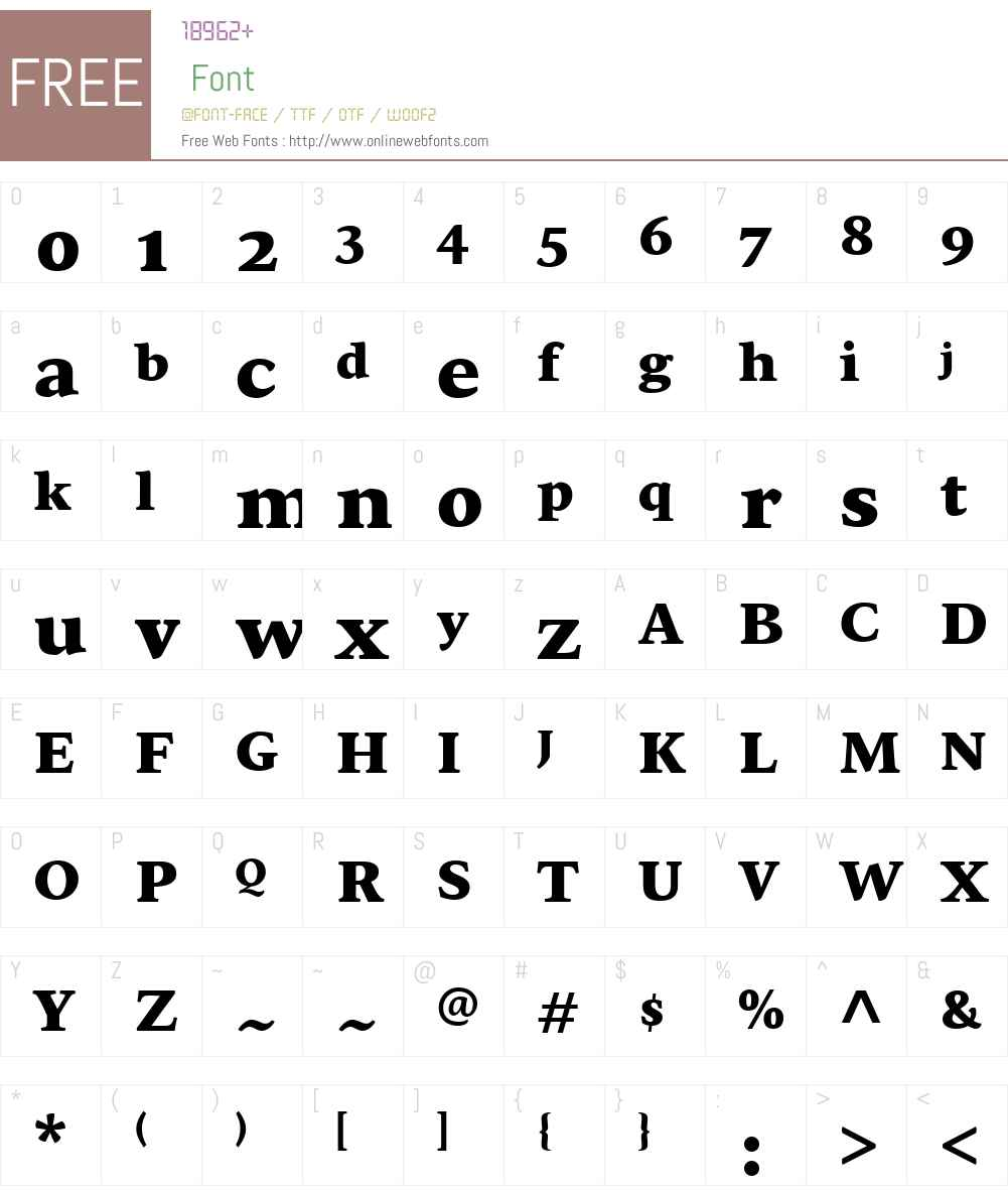 Sirba Bl Font Screenshots