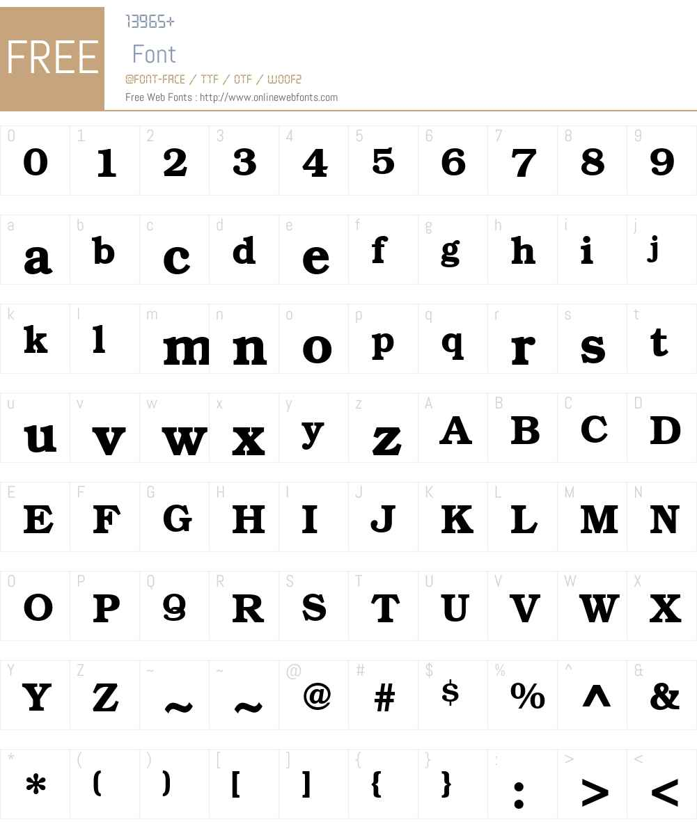 BookmanCTT Font Screenshots