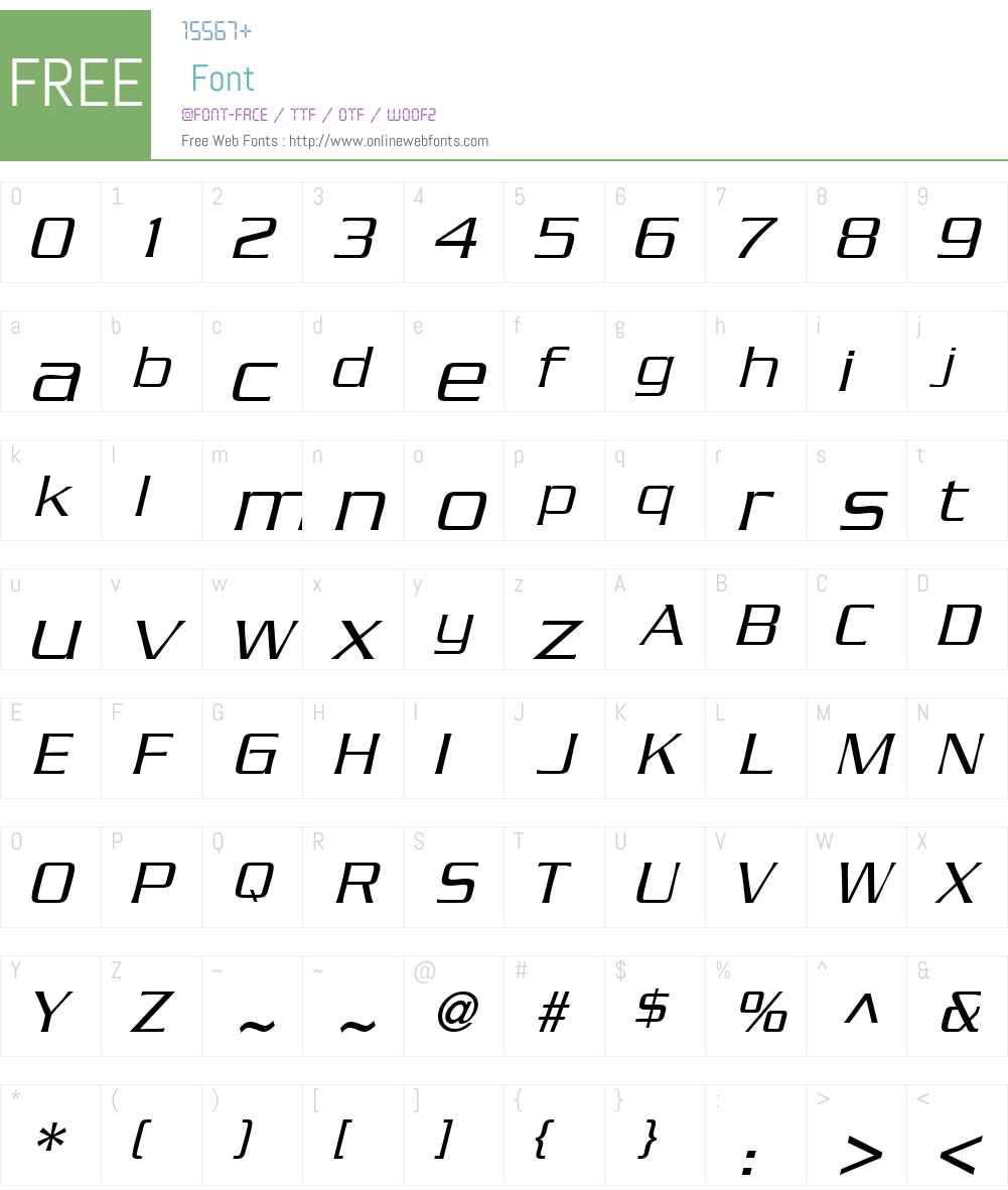 BoostLightSSK Font Screenshots