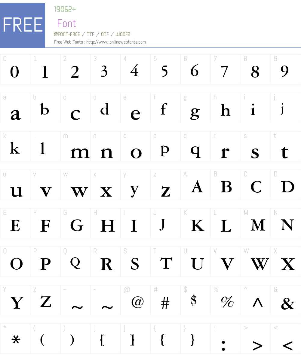 Garamond Three Font Screenshots