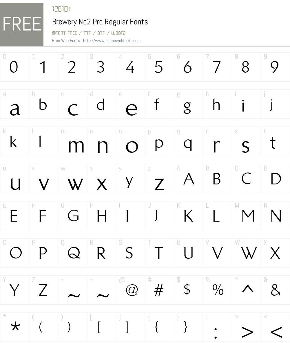 BreweryNo2Pro-Regular Font Screenshots