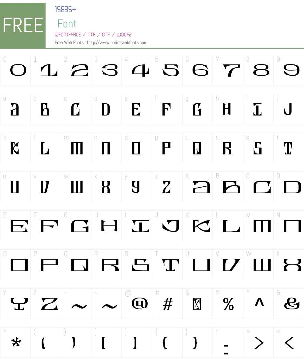 Cruder Font Screenshots
