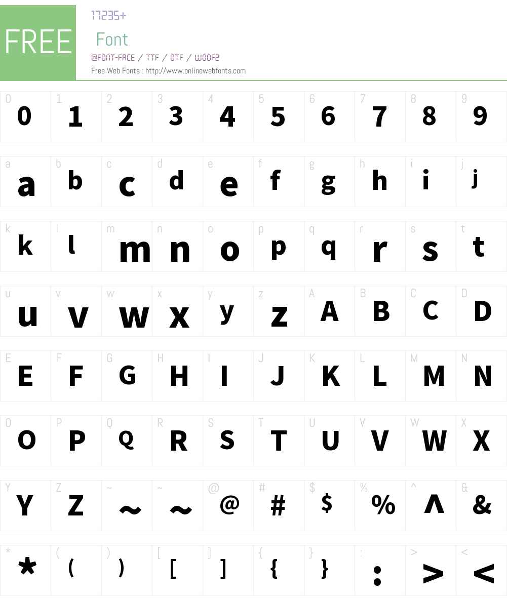 NotoKR-Black Font Screenshots