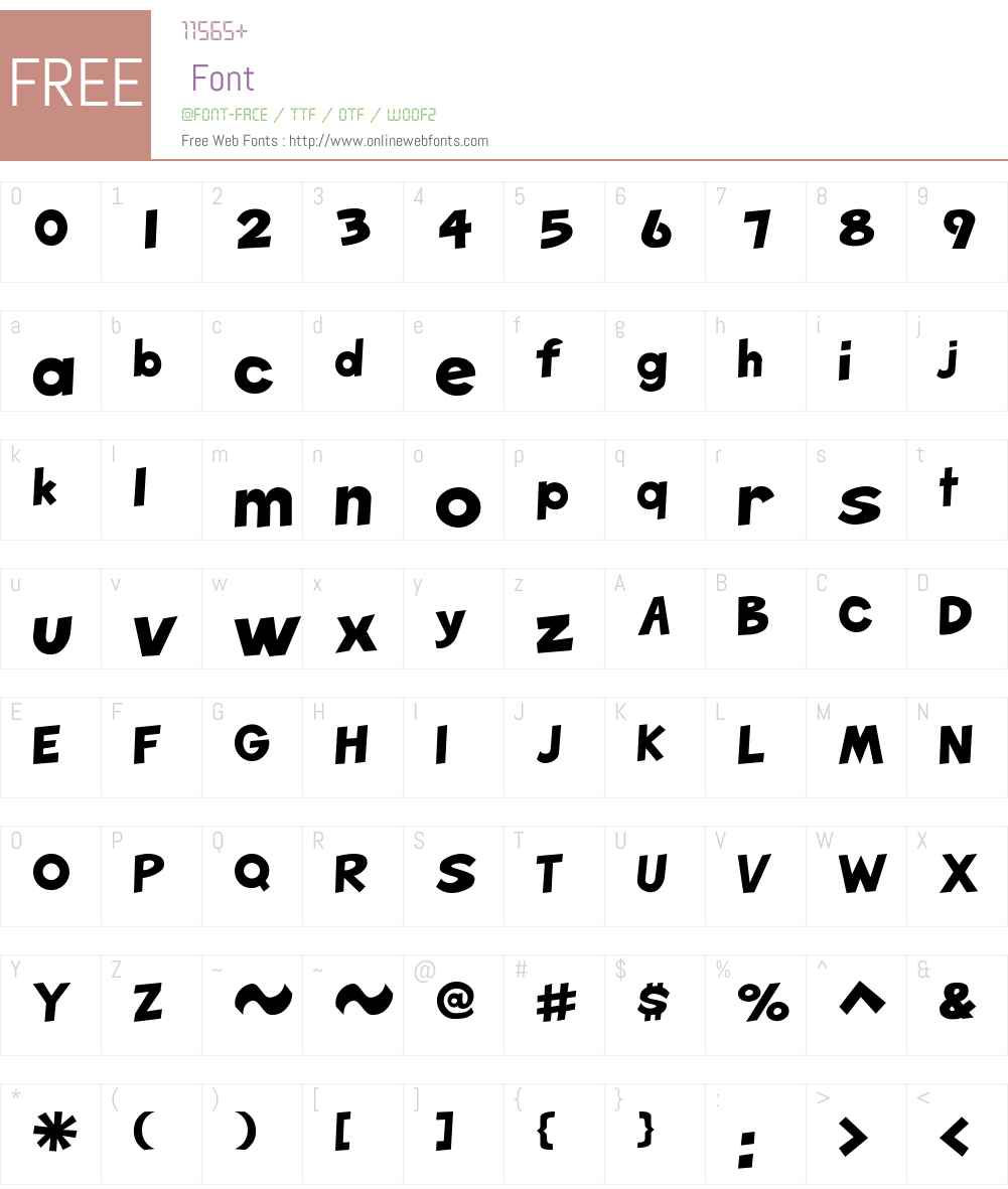 Mettler Font Screenshots