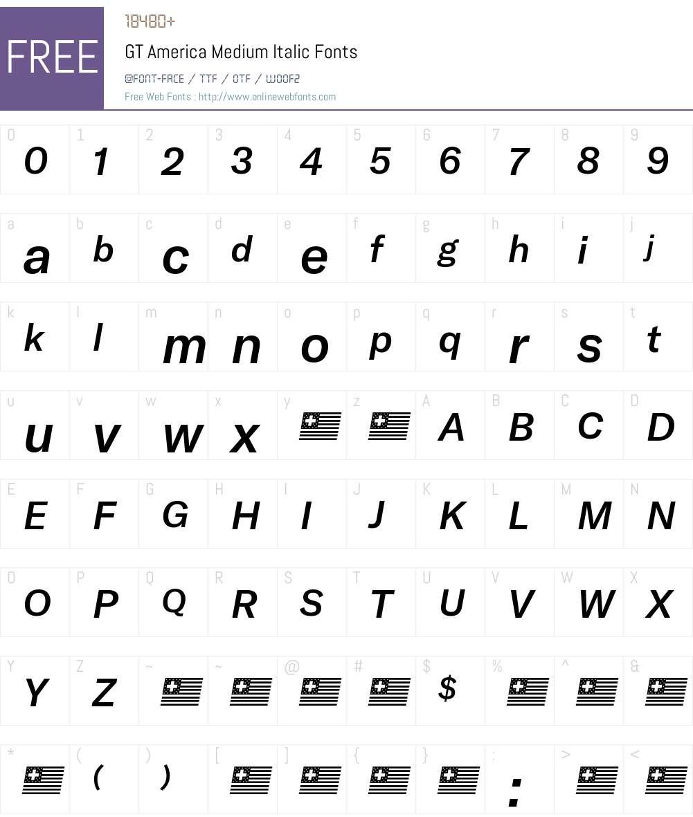 GT America Medium Font Screenshots