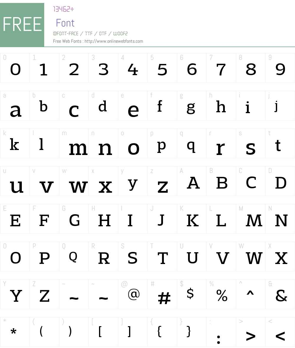 AdriaSlabW00-Regular Font Screenshots
