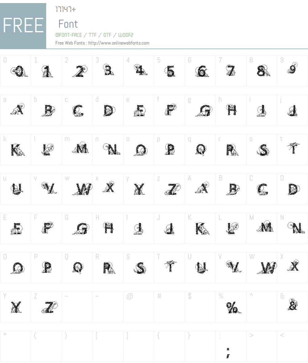 DinosBeeline Font Screenshots