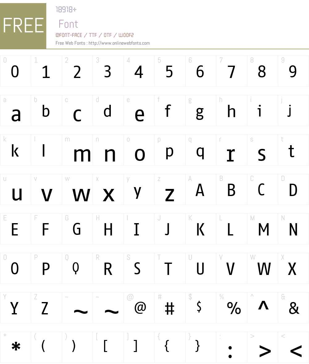 FF Fago Correspondence Sans Font Screenshots