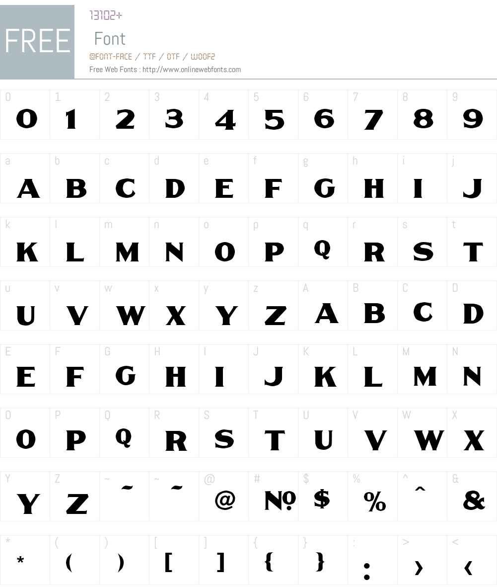 LHF Thick and Thin BETA Font Screenshots