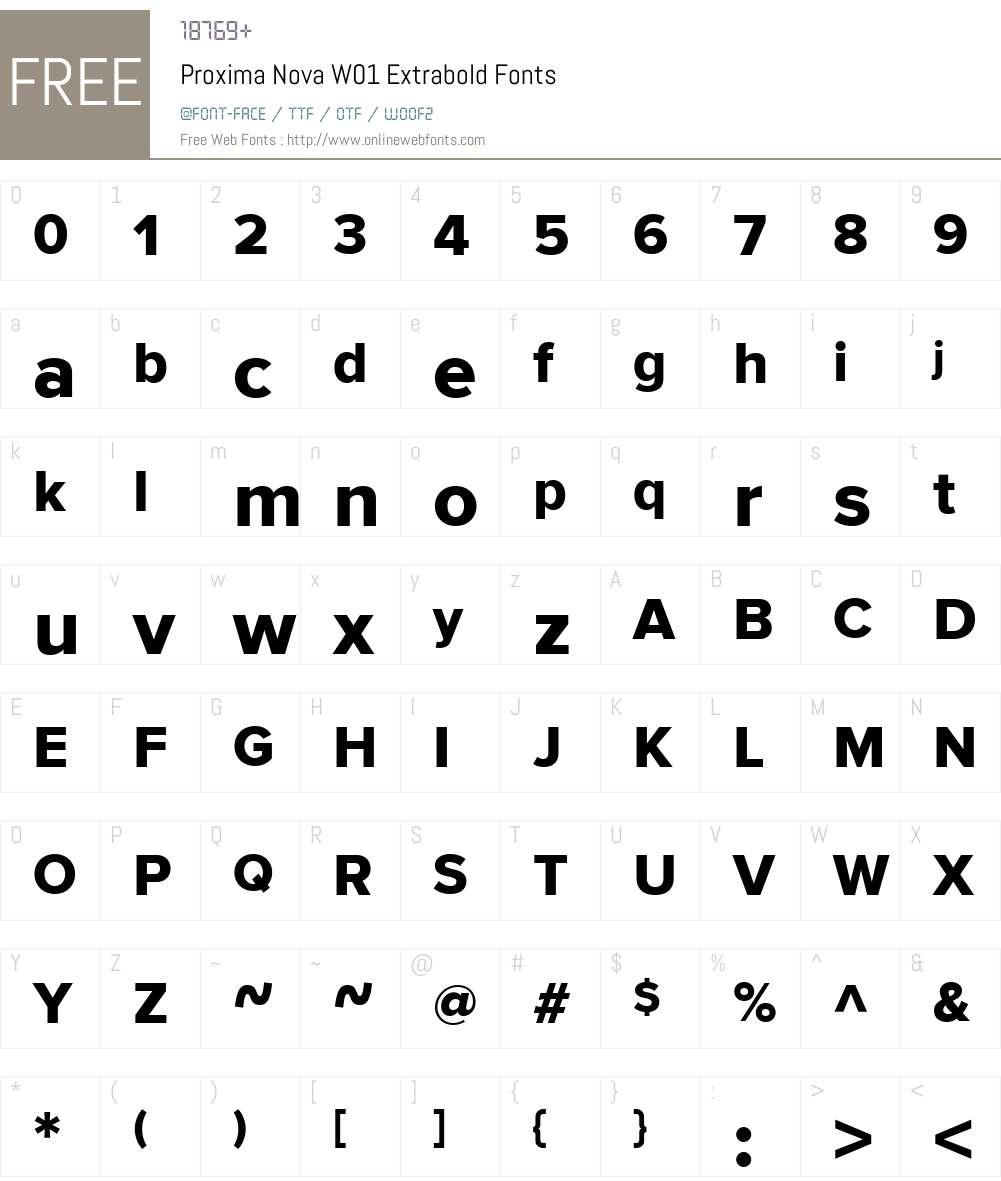 ProximaNovaW01-Extrabold Font Screenshots