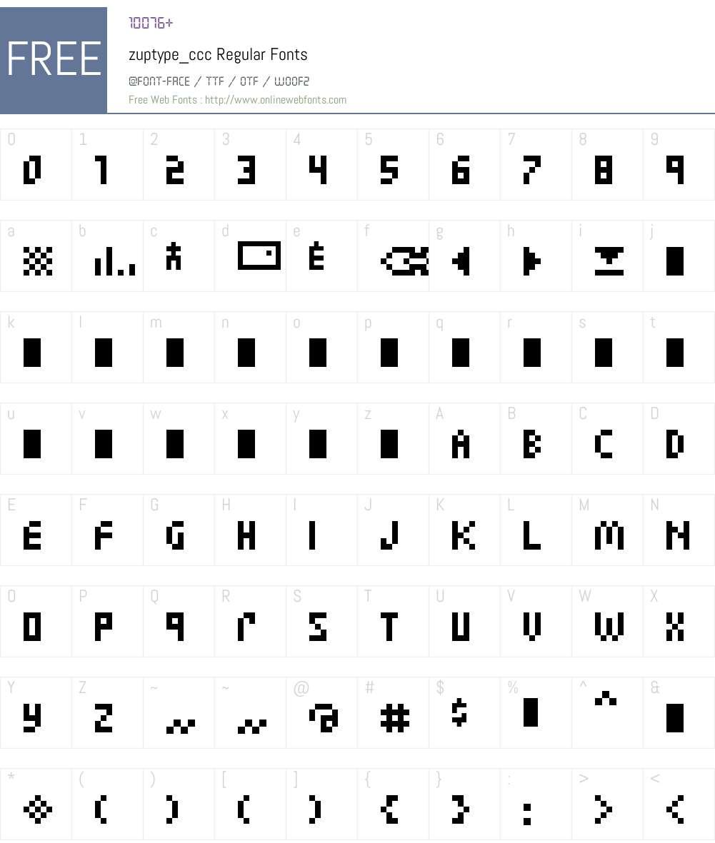 zuptype_ccc Font Screenshots