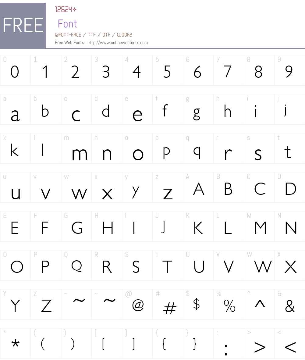 Chantilly-Light Font Screenshots