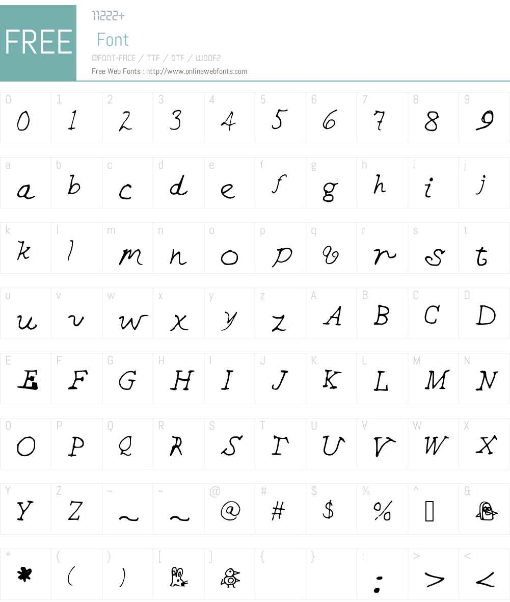 CHEEKINSo Font Screenshots