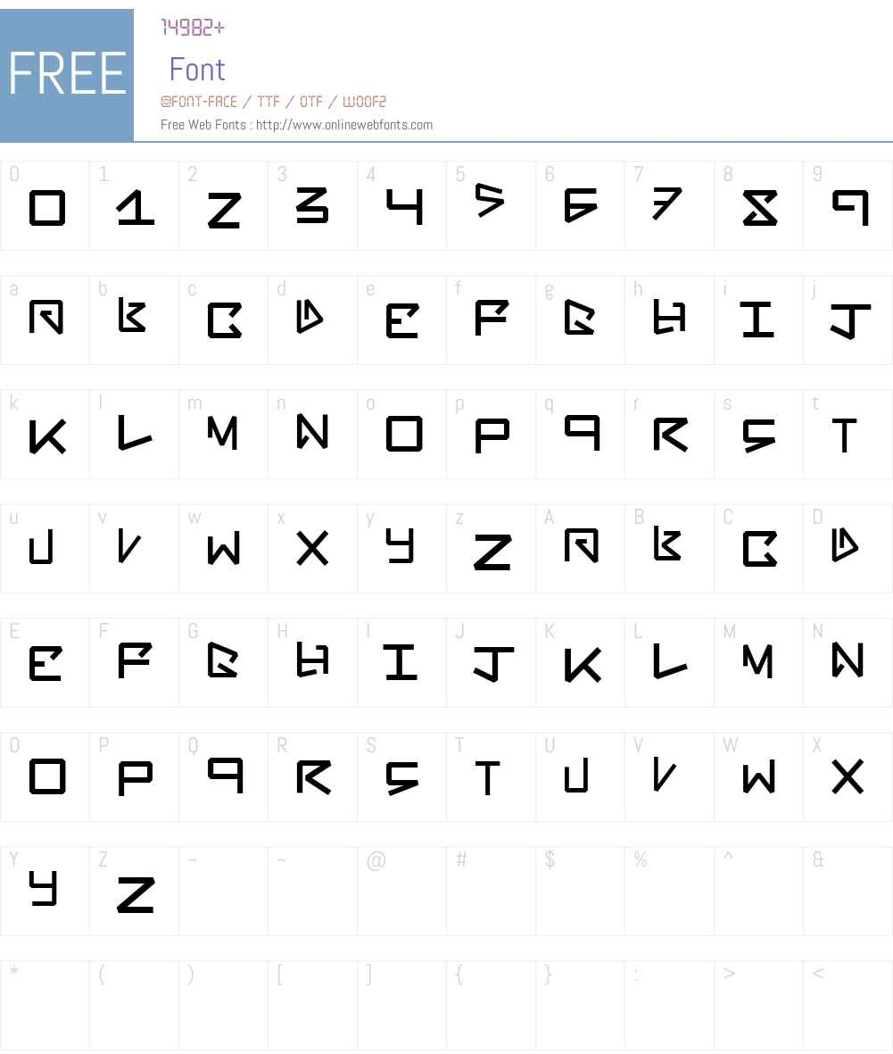 BentOut Font Screenshots