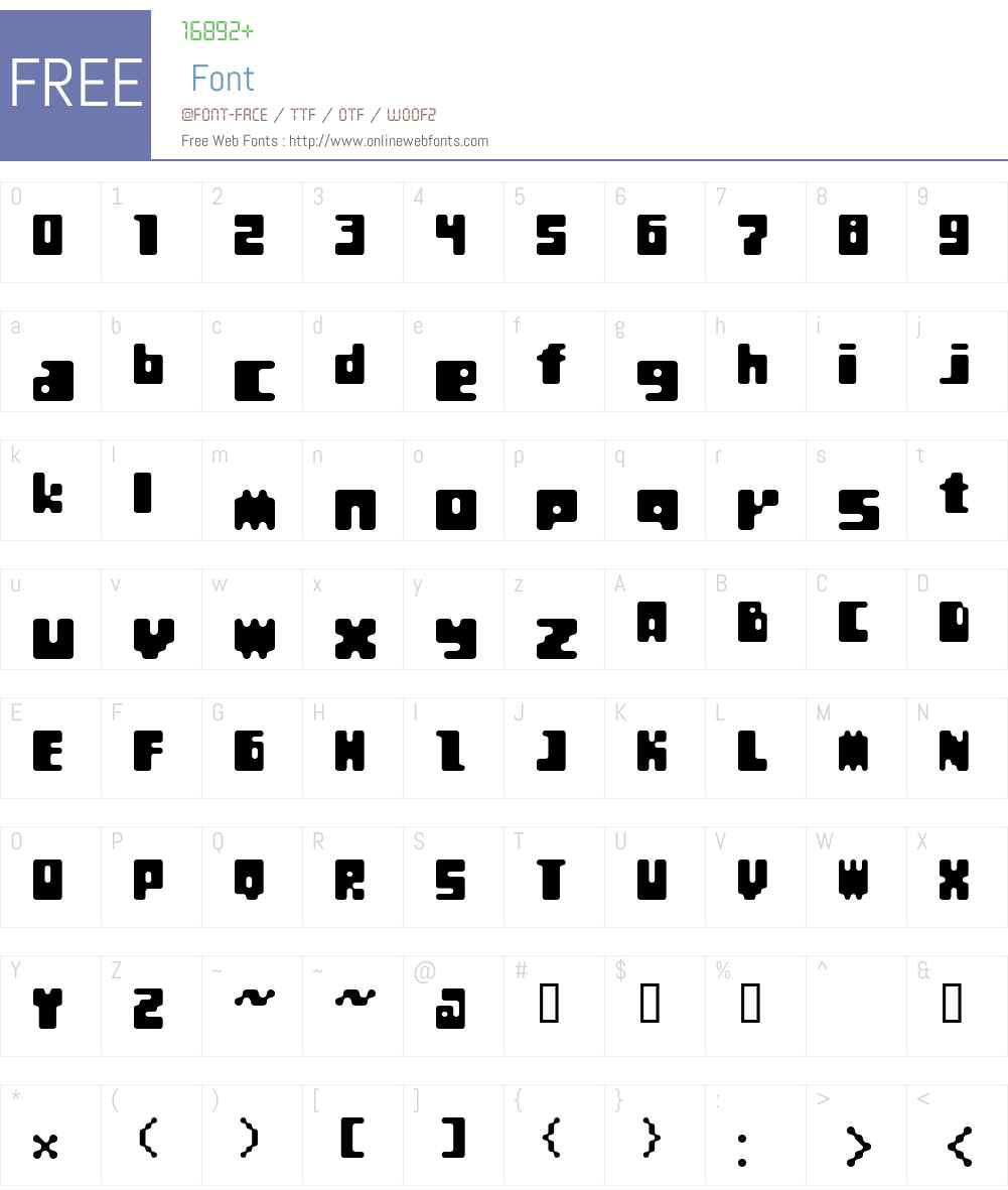 Et BoogieBlocks Font Screenshots