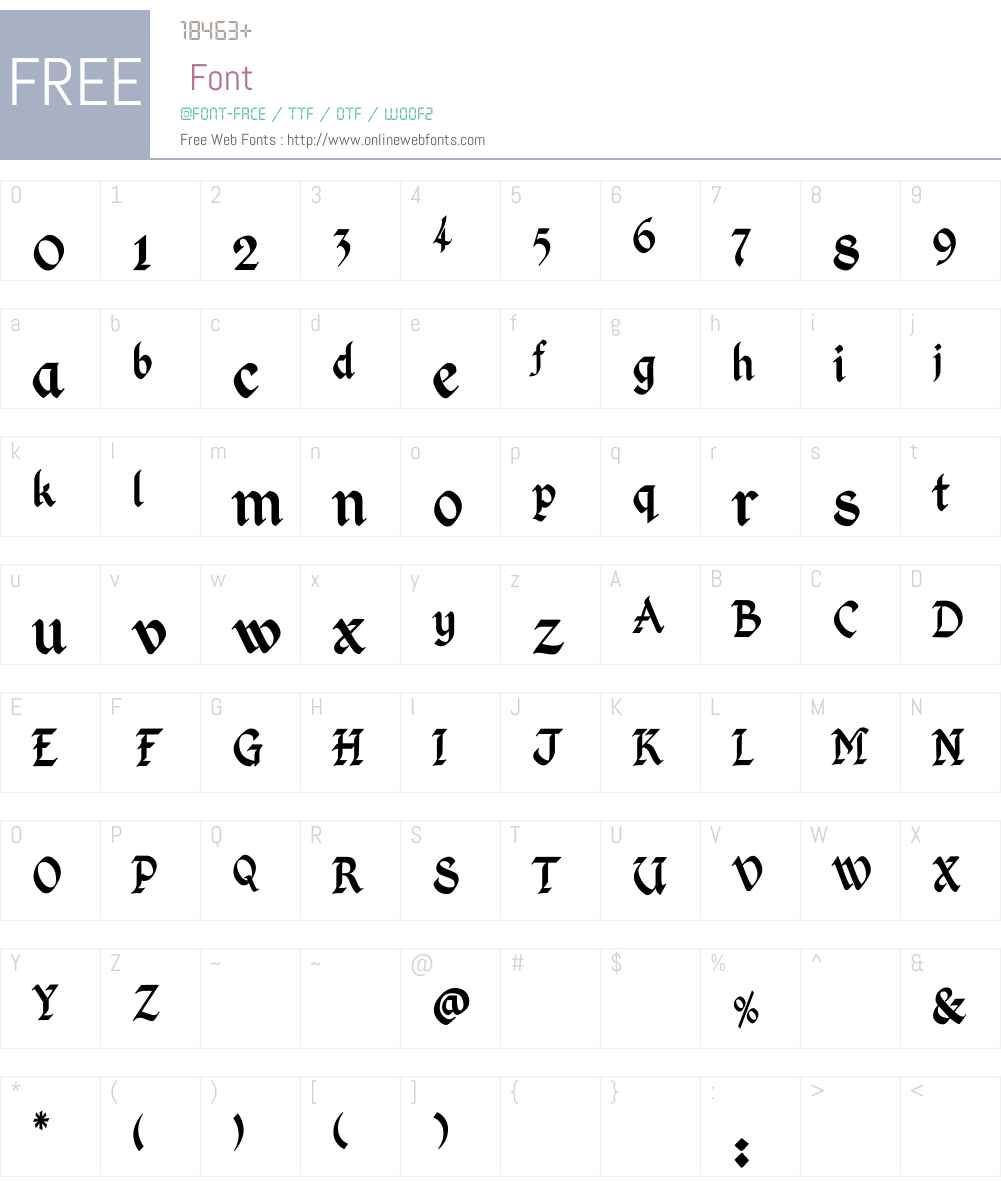 Kingthings Calligraphica Font Screenshots