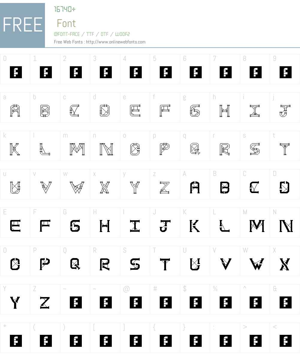 TS PipeStruct Plus Font Screenshots
