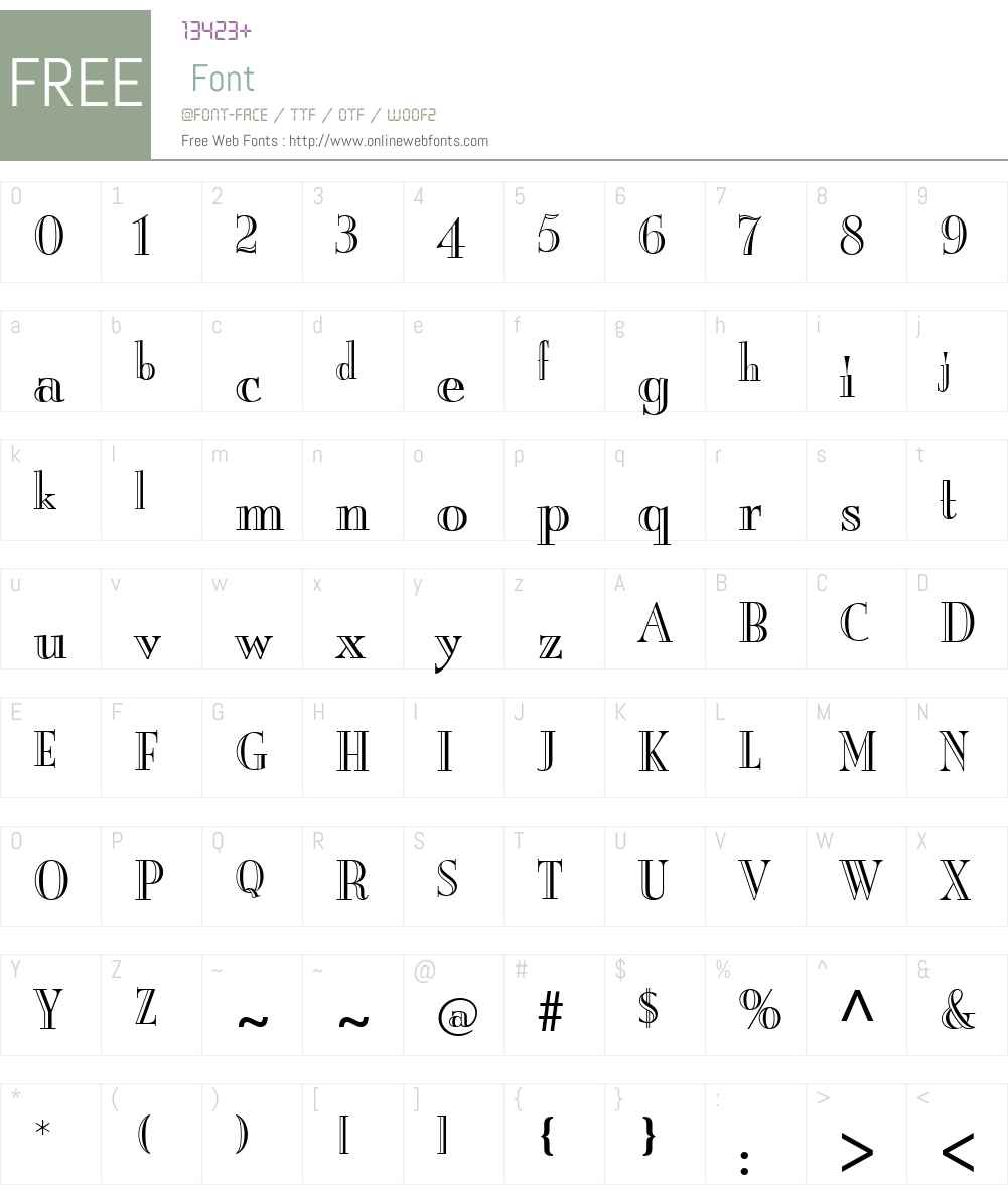 Burlington Font Screenshots