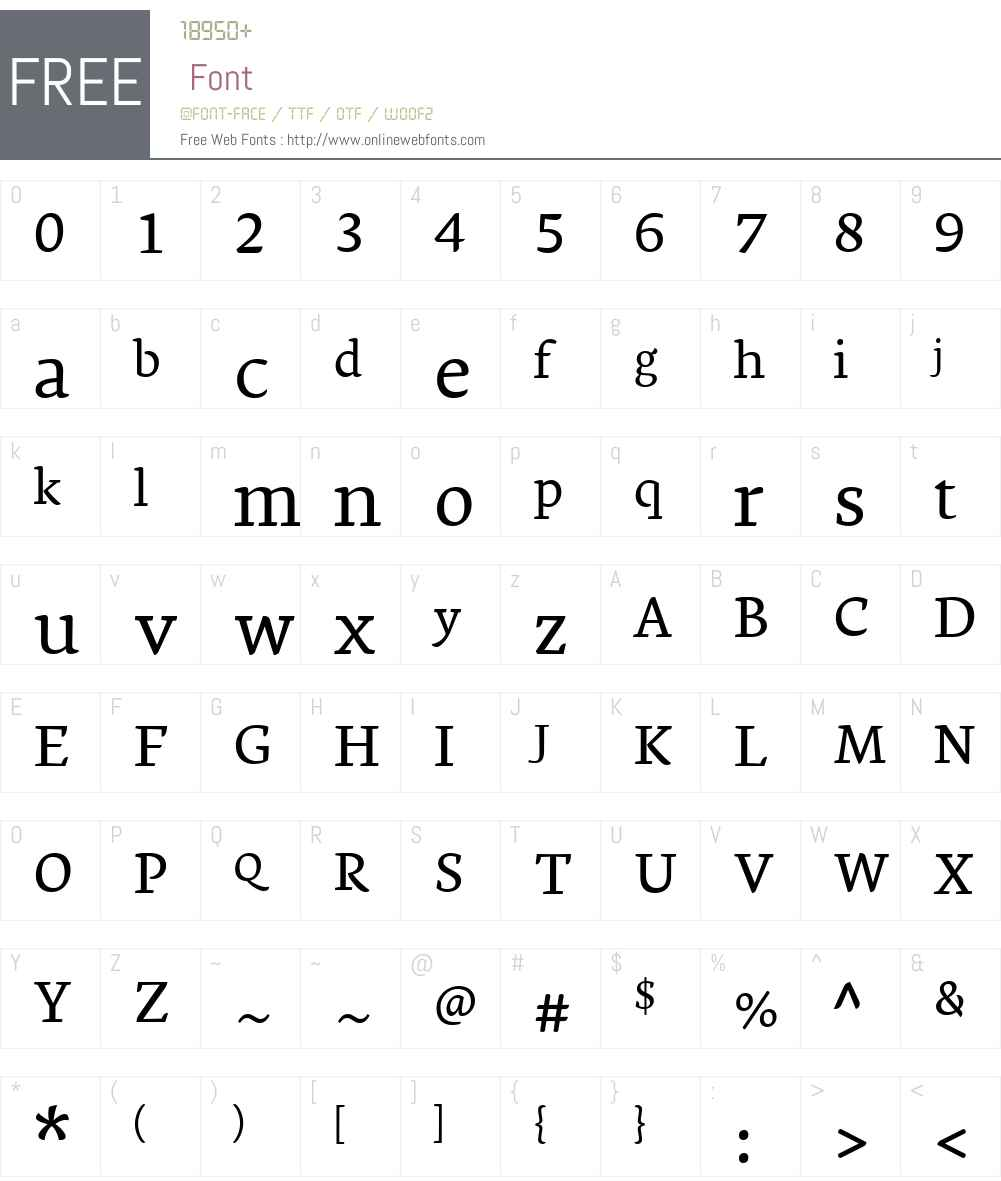 Ginkgo Font Screenshots