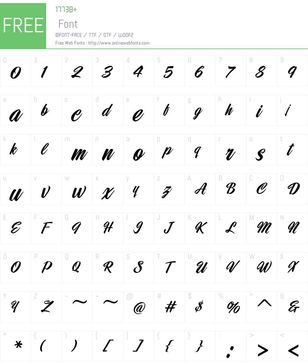 DragsterScriptJF Font Screenshots