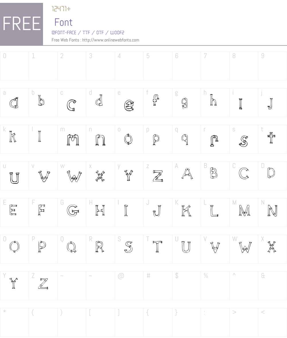SketchPipes Font Screenshots