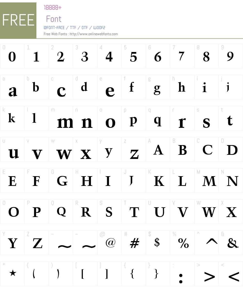 Kuenst480 BT Font Screenshots