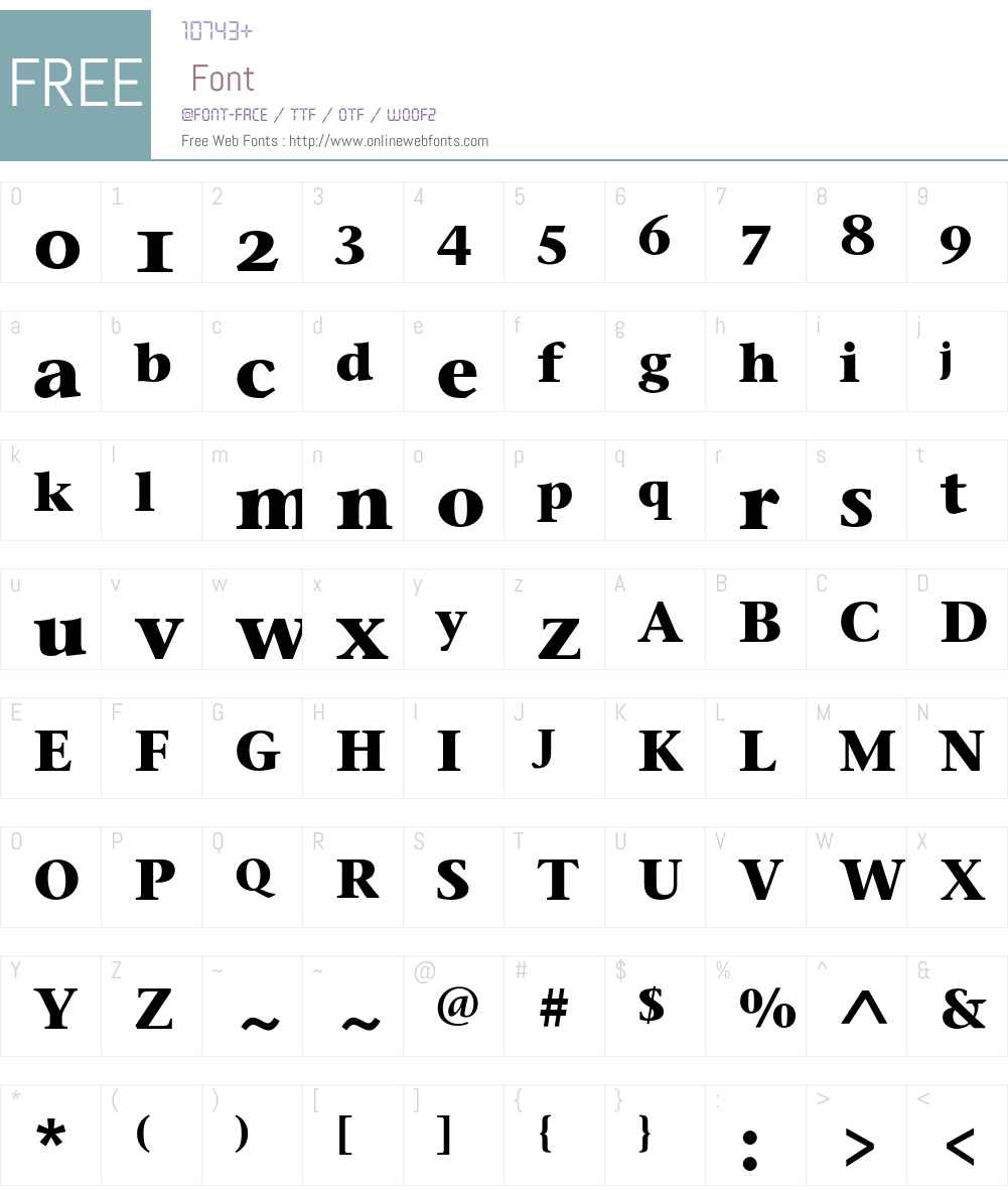 Stone Serif OS ITC Font Screenshots