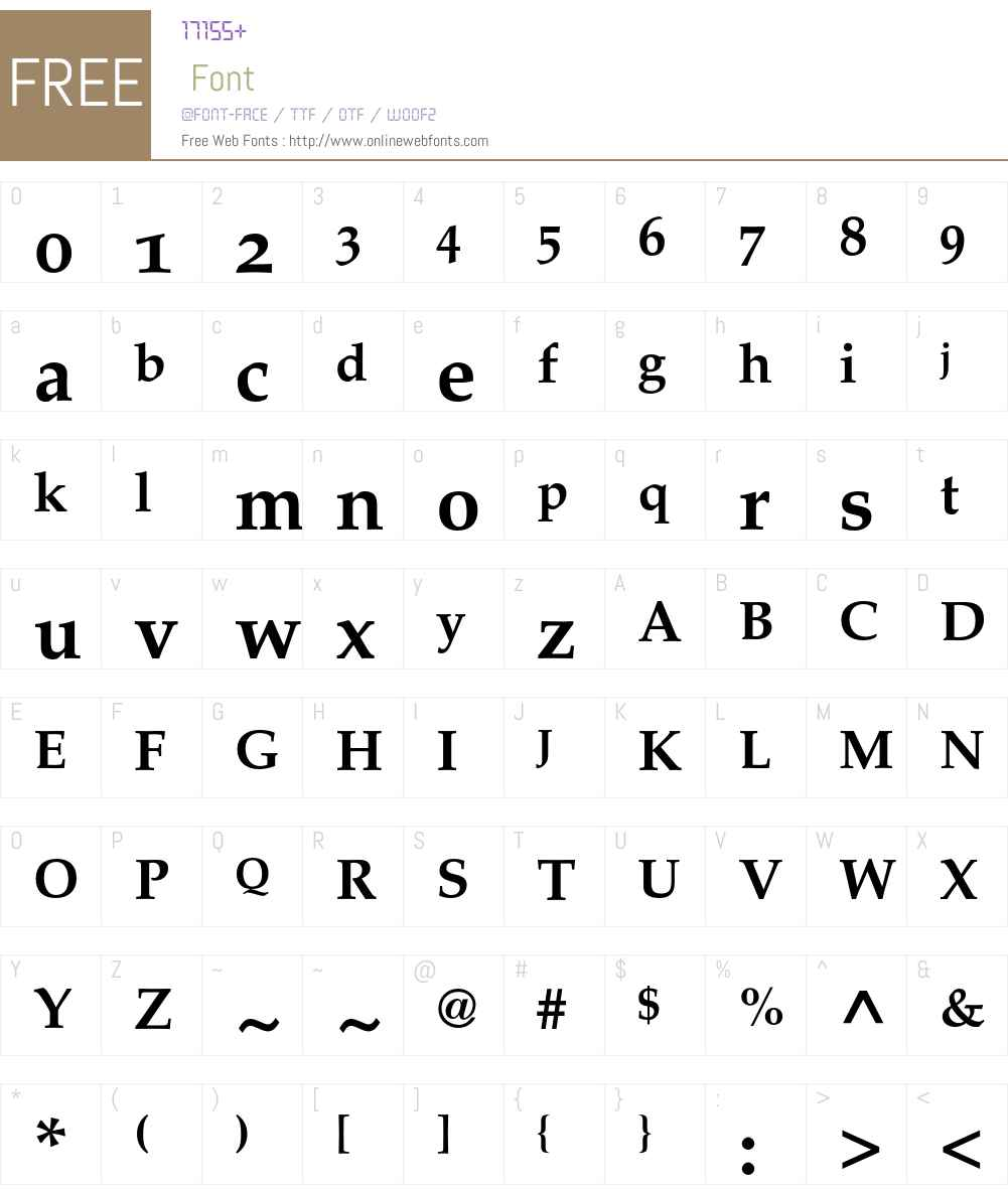 Palatino Font Screenshots