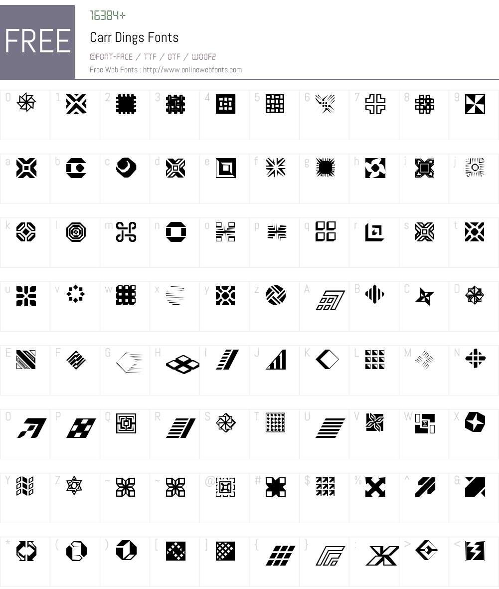 Carr Dings Font Screenshots