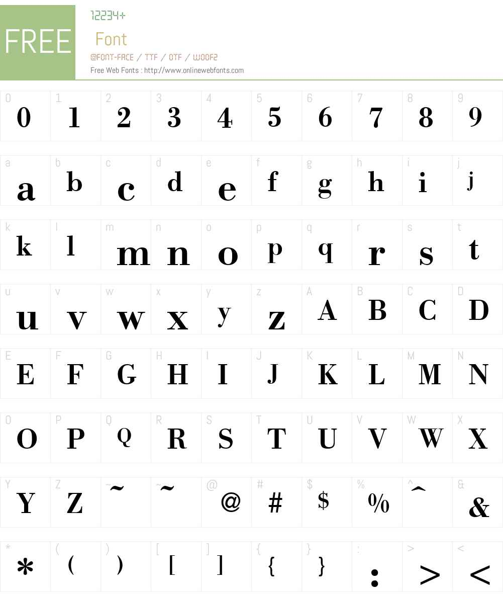 BodinSmall Font Screenshots