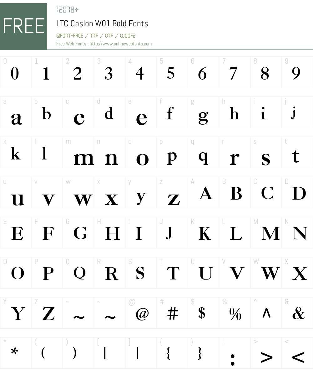 LTCCaslonW01-Bold Font Screenshots
