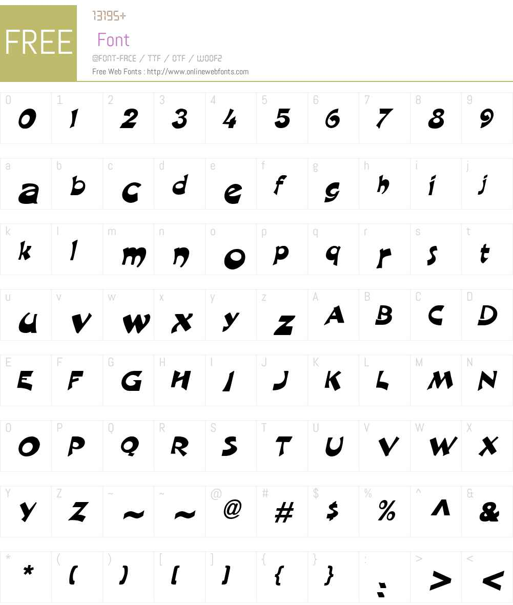 Crane Font Screenshots