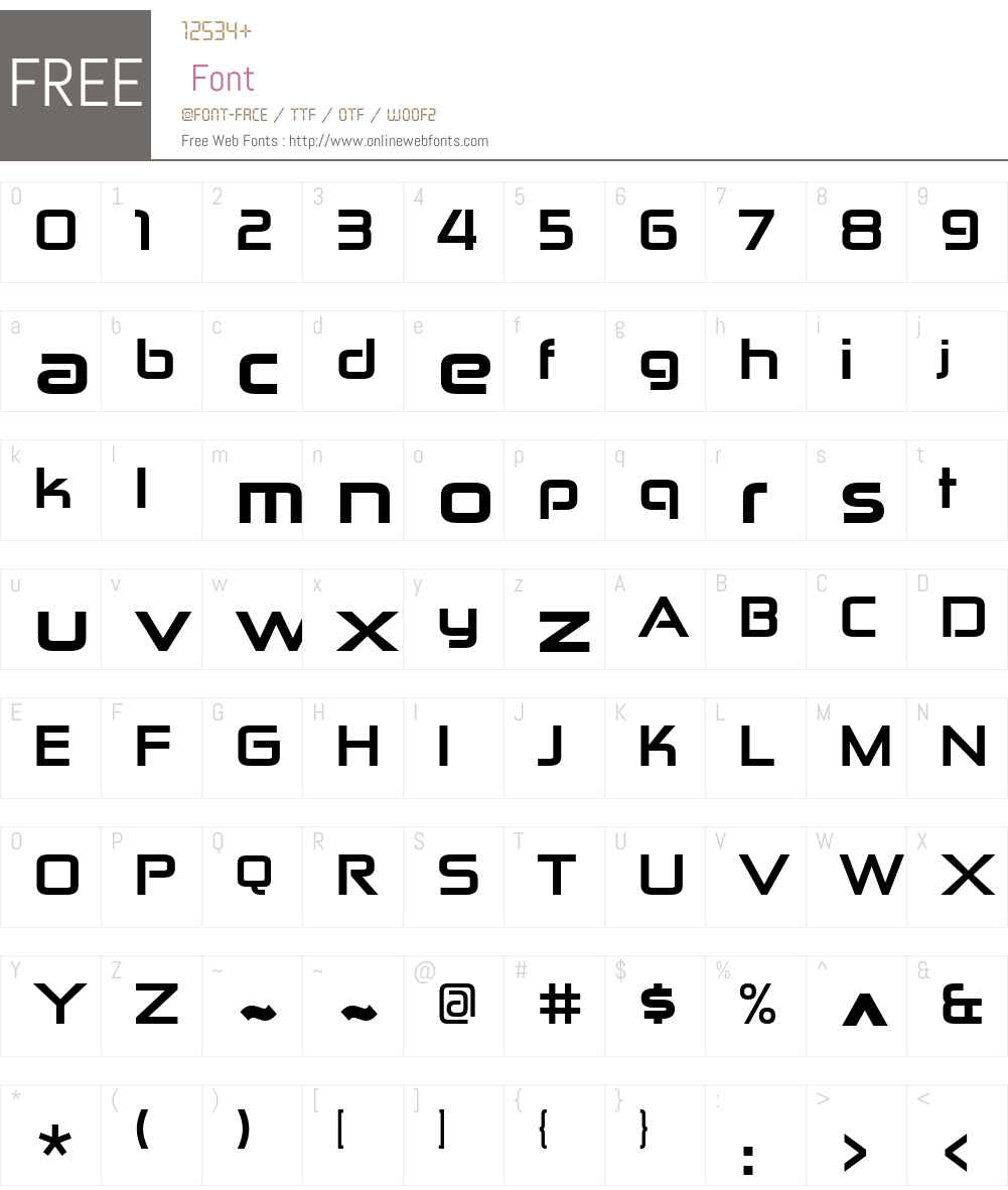 Zekton ExHv Font Screenshots