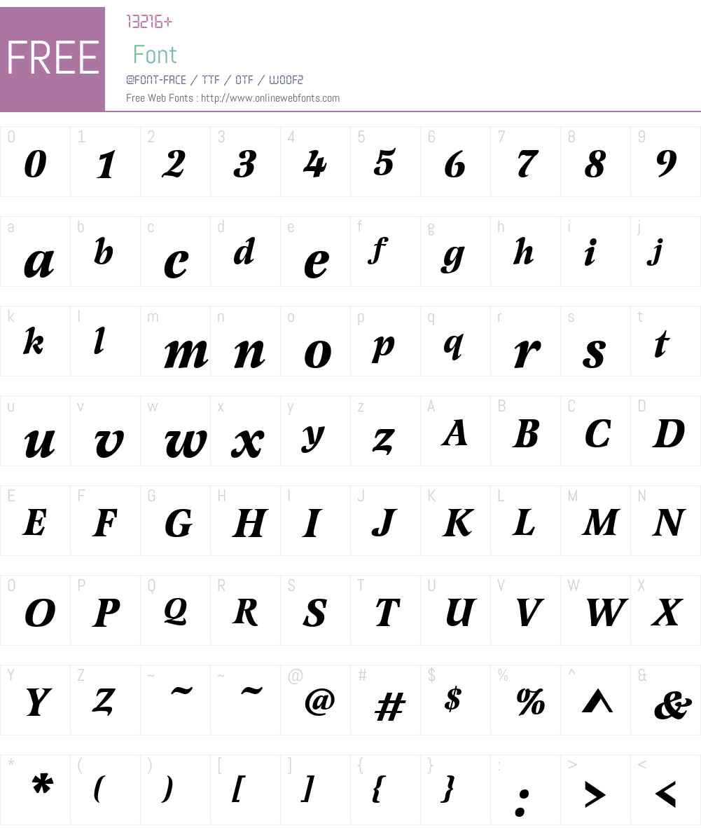 LatienneW01-BoldItalic Font Screenshots